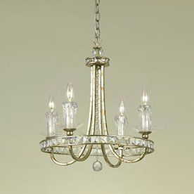 538 Candice Olson By Af Lighting 4 Light Aristocrat Soft Gold Crystal Accent Chandelier