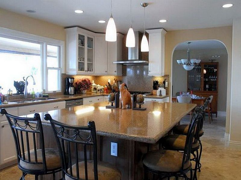 picture of traditional kitchen islands dining table kitchen pinterest kitchen island table on kitchen island ideas kids id=52708