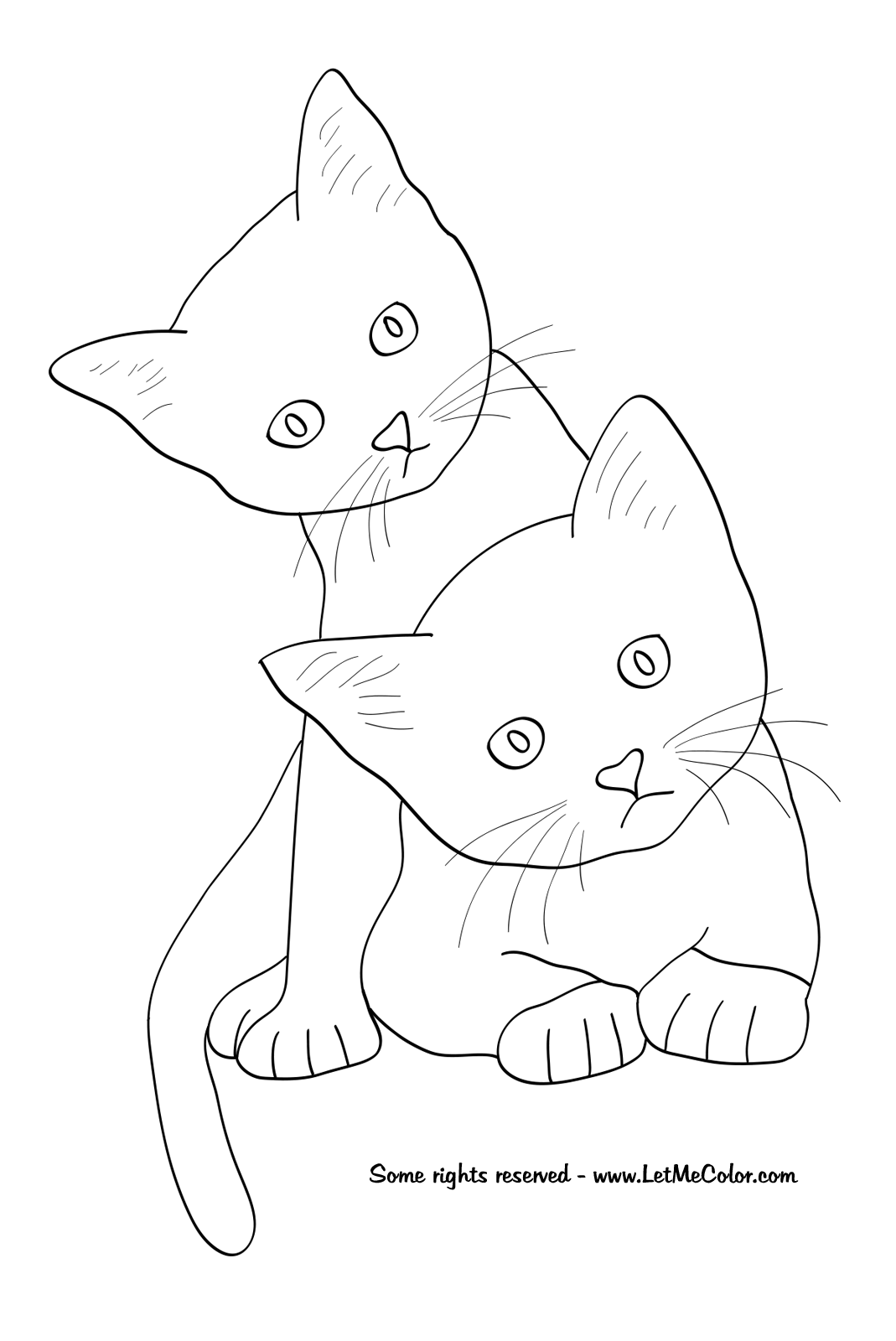 Cool Cats Coloring Page Special Picture