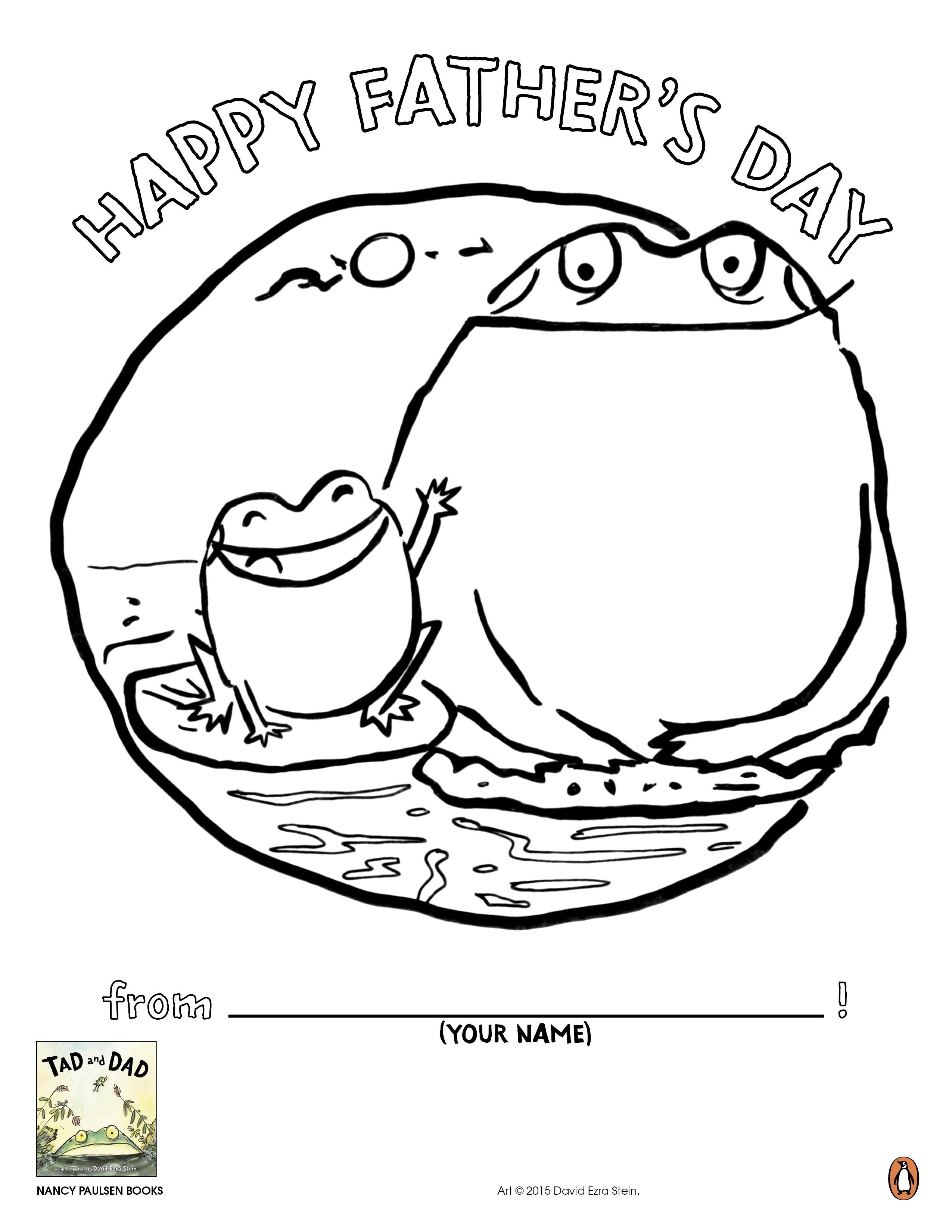 Let Your Little Tadpoles Print And Color This Adorable