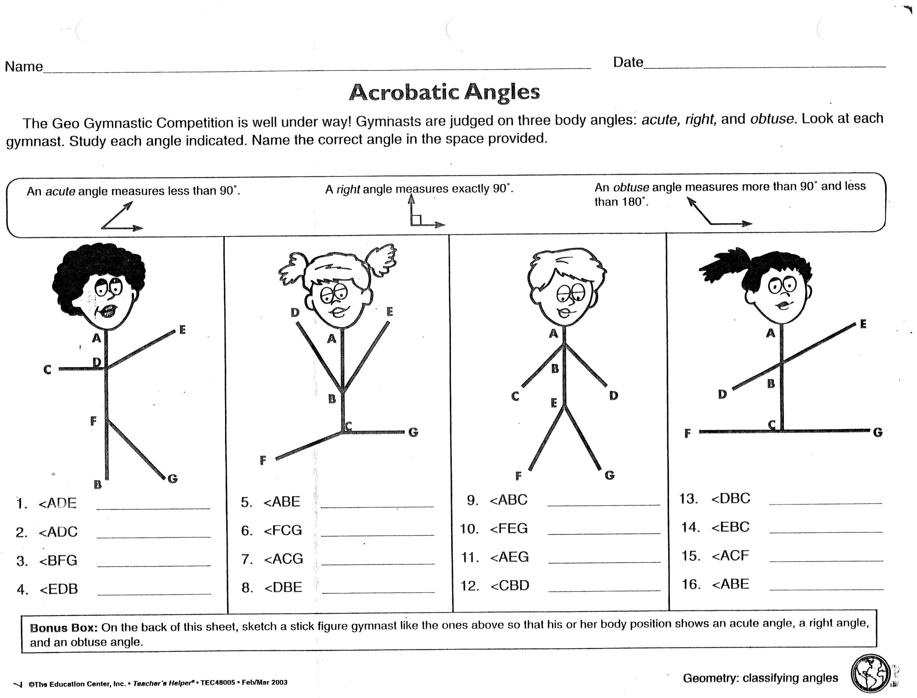 6th Grade Geometry Worksheets With Answers