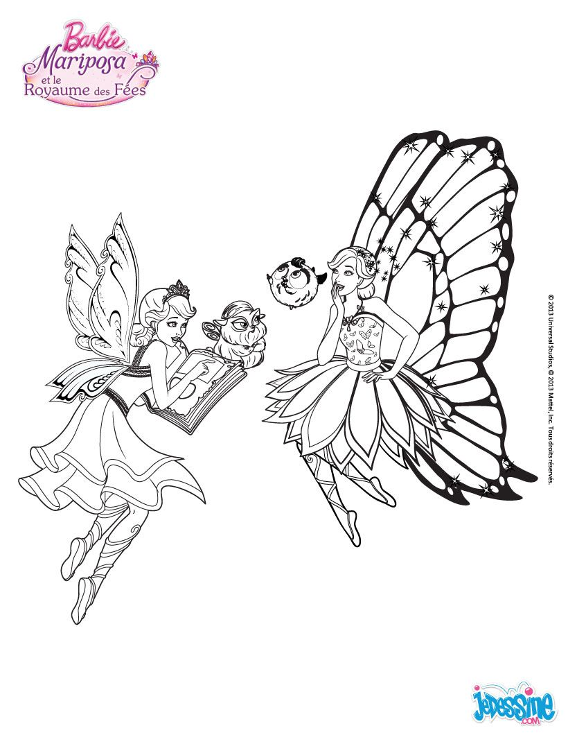 Coloriage Barbie Catania Et Mariposa Barbie Mariposa