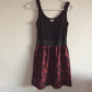 Black and red lace dress i apologize for the bad quality the dress