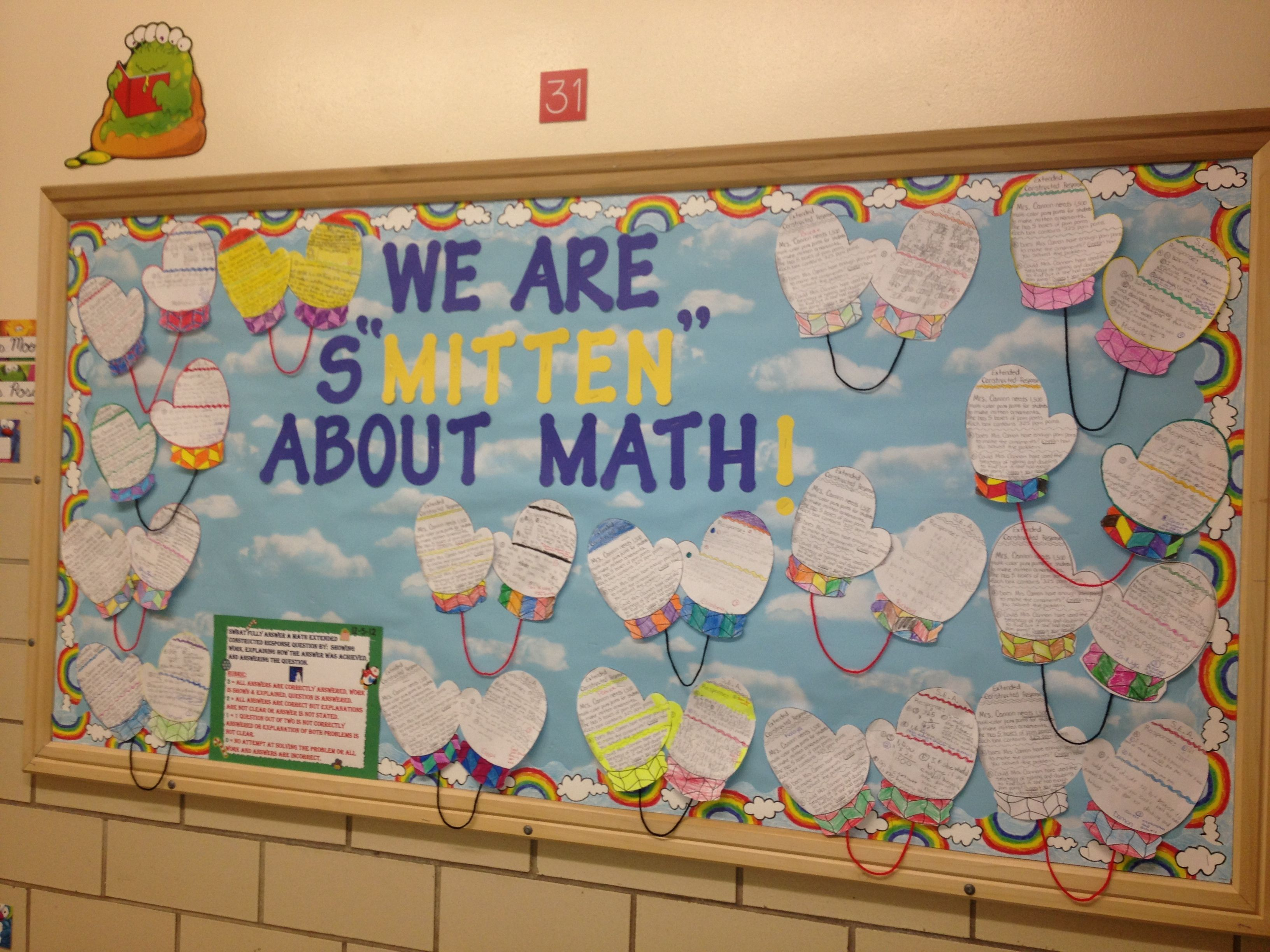 Math Bulletin Board We Are S Mitten About Math Here I