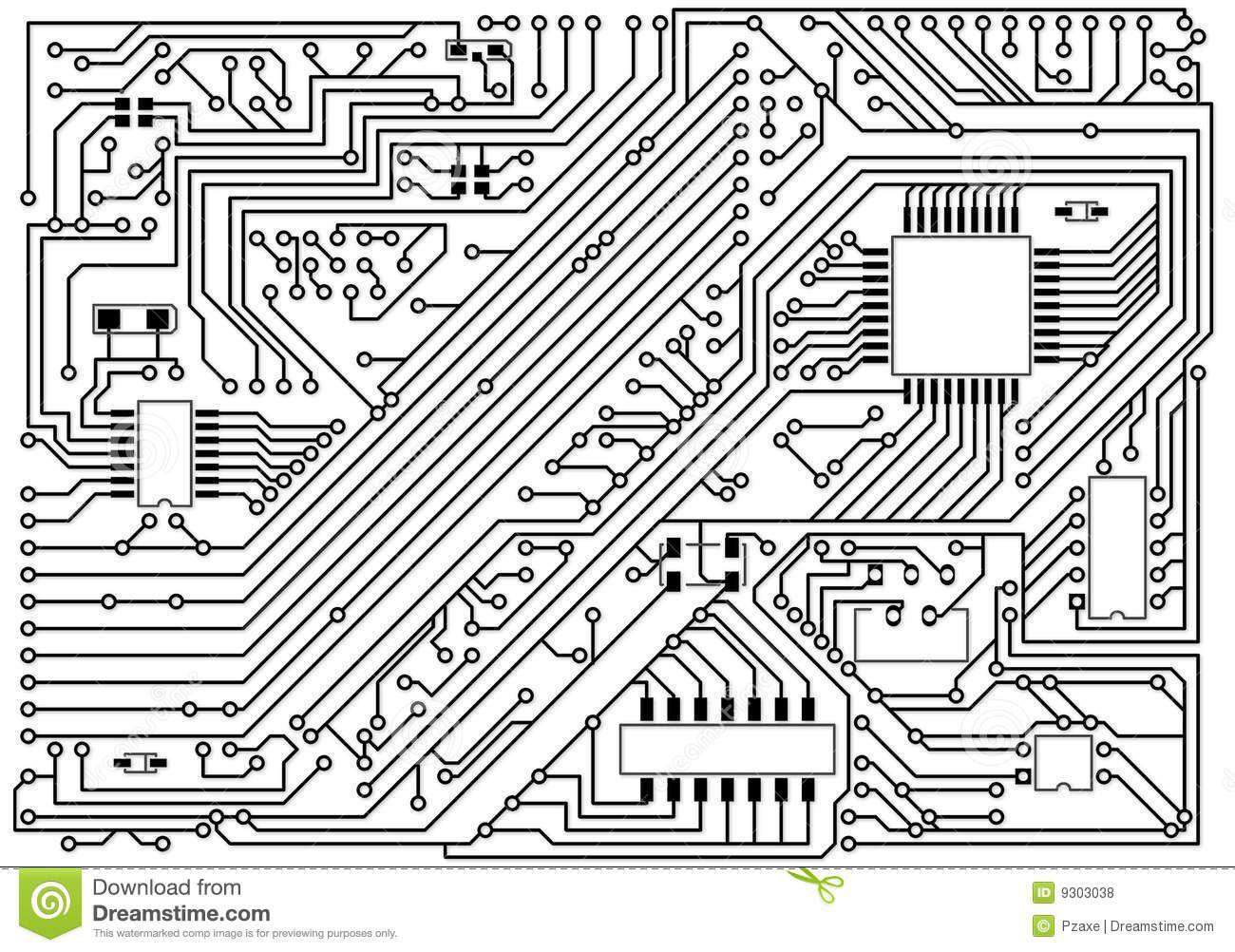 Circuitos electricos blanco y negro buscar con
