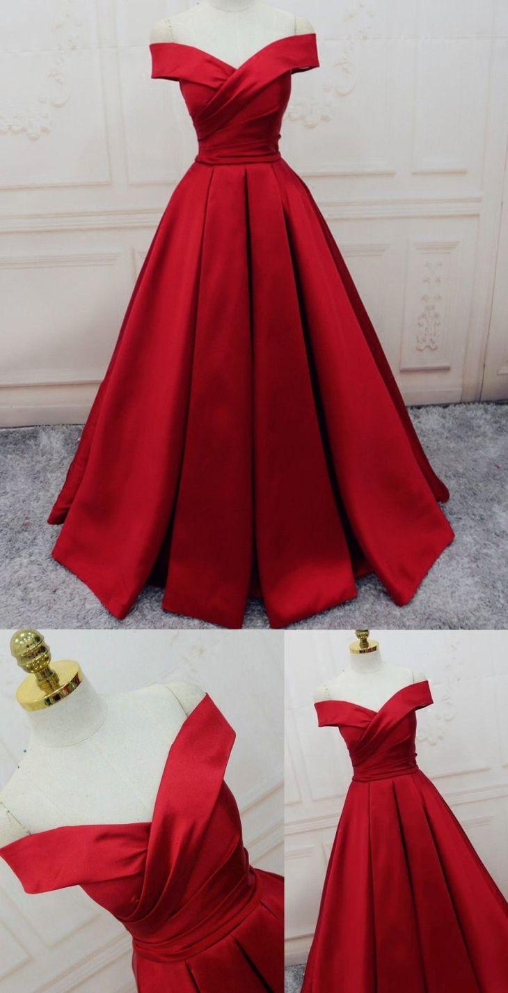 OfftheShoulder Evening Dresses Burgundy Long Evening Dresses
