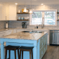 We love the setup and color combination in this kitchen twotone