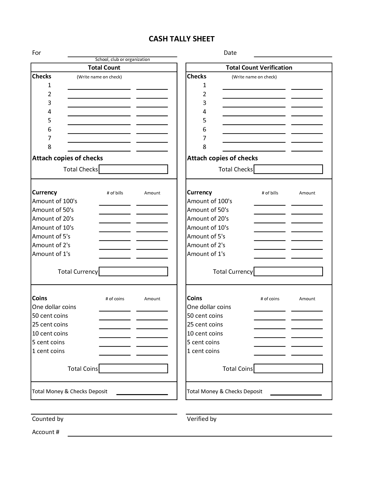 Cash Count Form Final Picture