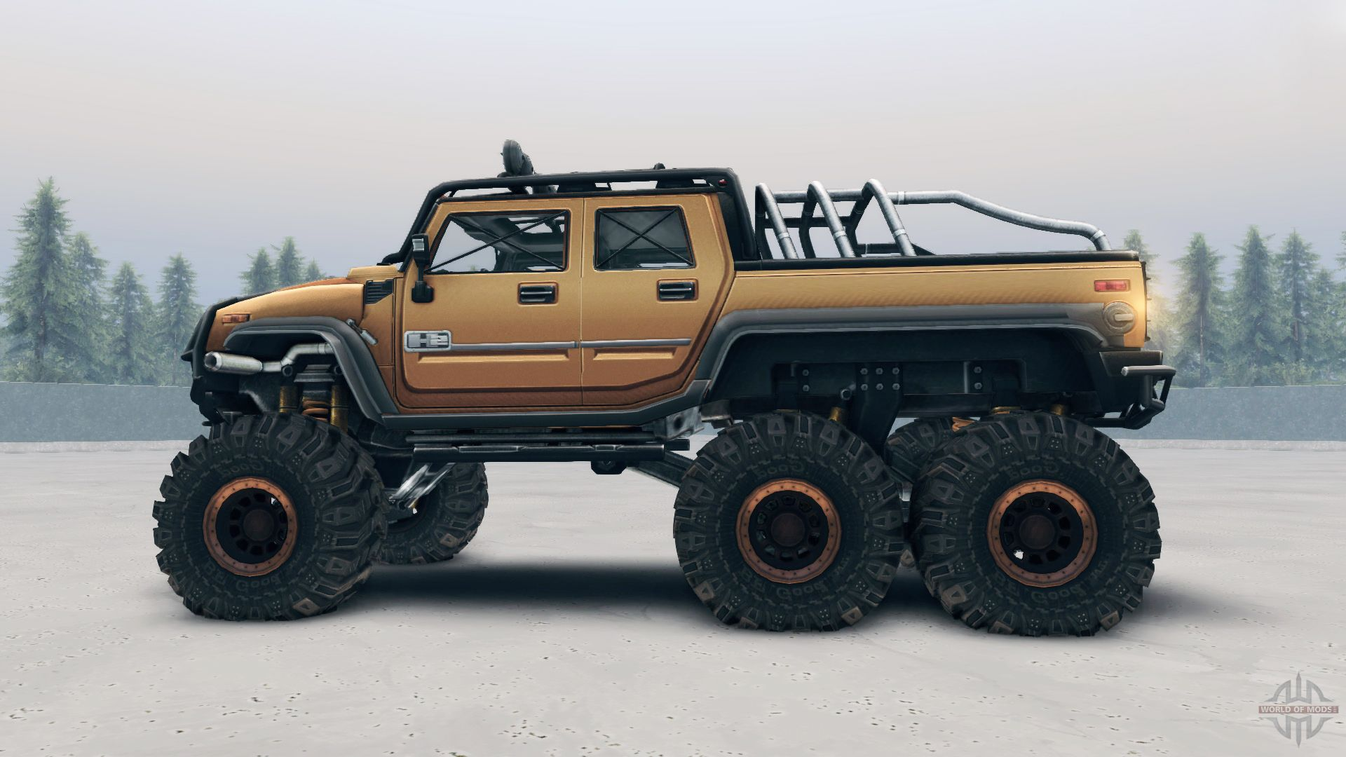 Hummer H2 Sut 6x6 para el videojuego Spin Tires