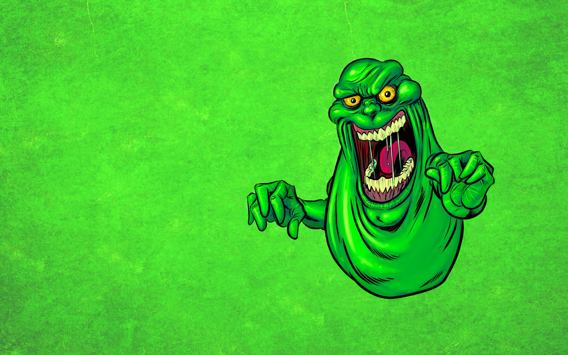 Slimer Green Background Ghostbusters Pinterest