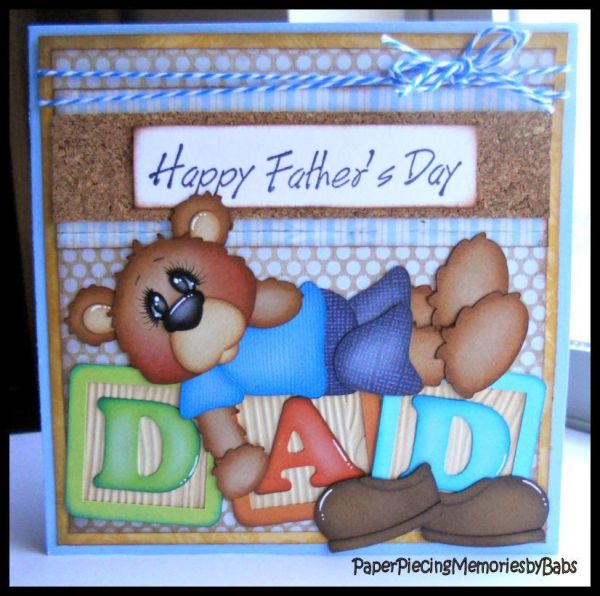 Happy Father's Day card created by PAPER PIECING MEMORIES ...