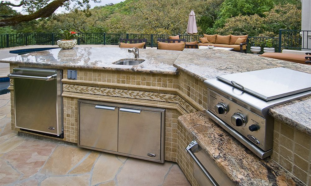 outdoor barbecue kitchen islands custom gourmet galley outdoor kitchens ideas for the house on outdoor kitchen bbq id=52592