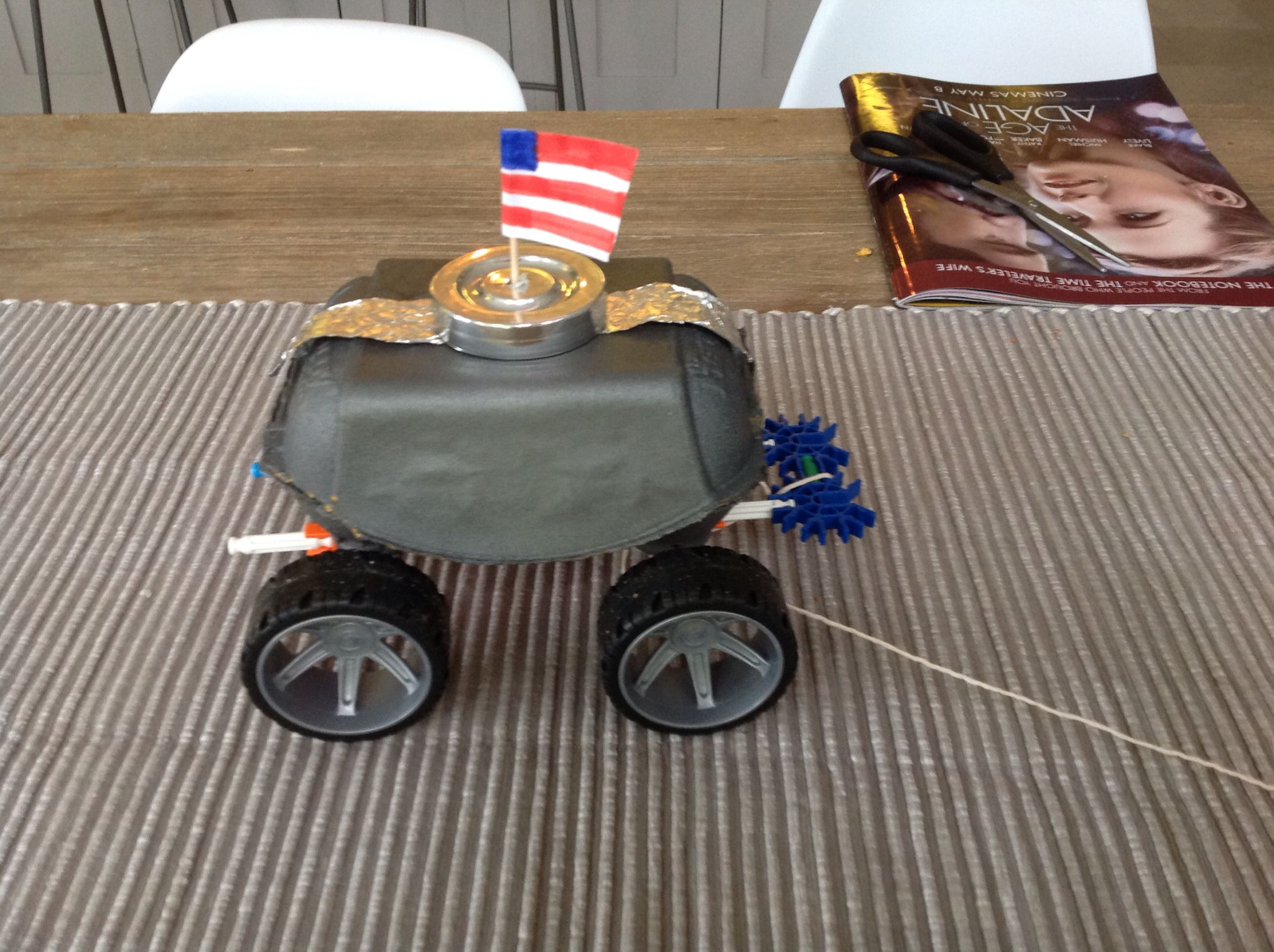 Moon Buggy Homework Made With Egg Box Tin Foil Knex