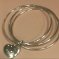 Tiffany u co triple bangle with heart bracelet tiffany box