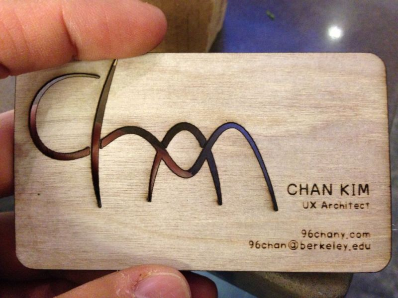 Diy your business cards plywood business cards and