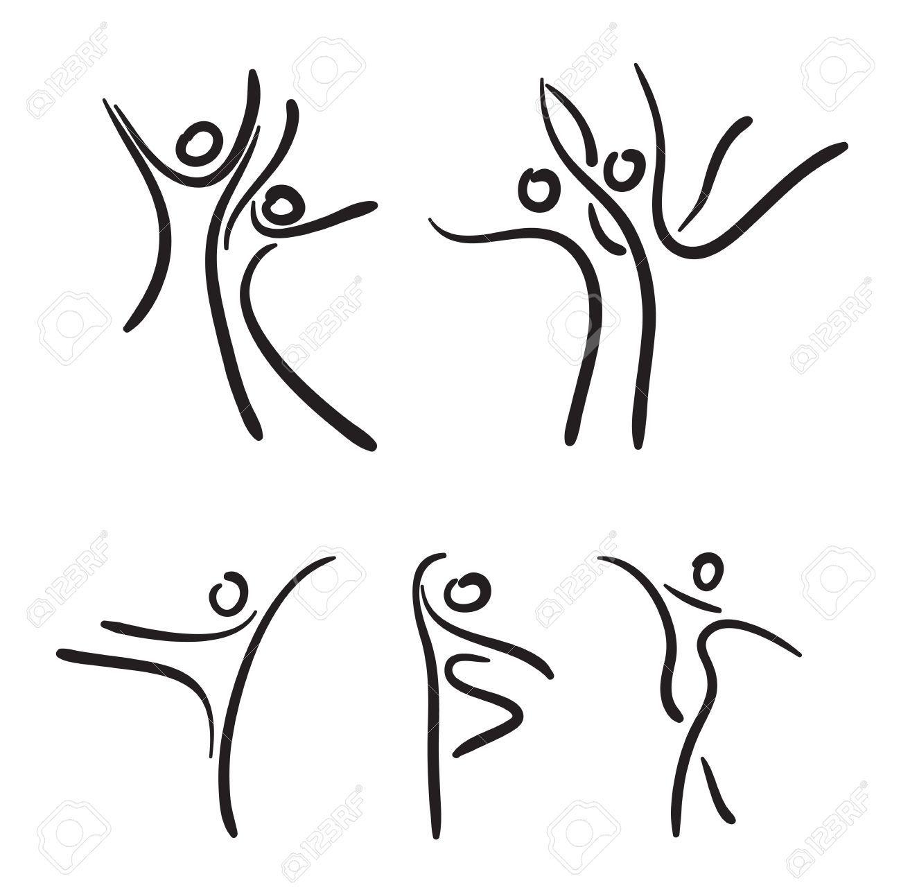 Ballet Dancers Illustration Ballet Silhouette Sketch