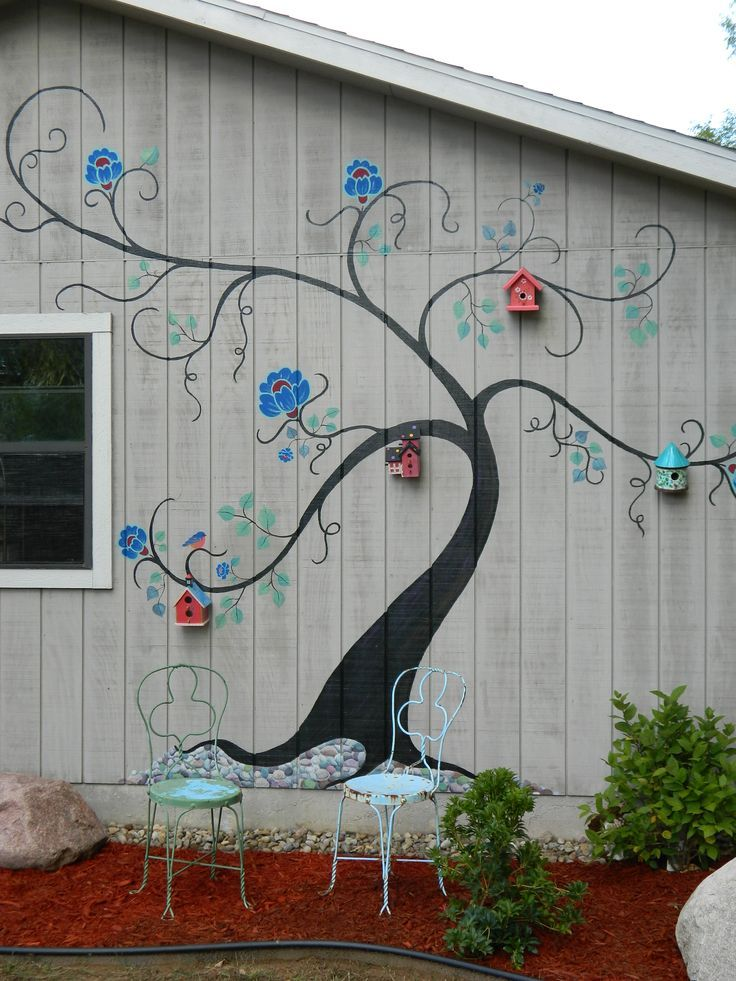 Best Outdoor Garden Murals Images On Pinterest Murals Decks Picket Fence Garden  Mural JPG Provided By Melissa Barrett Paint Design Wall Murals Portland ...