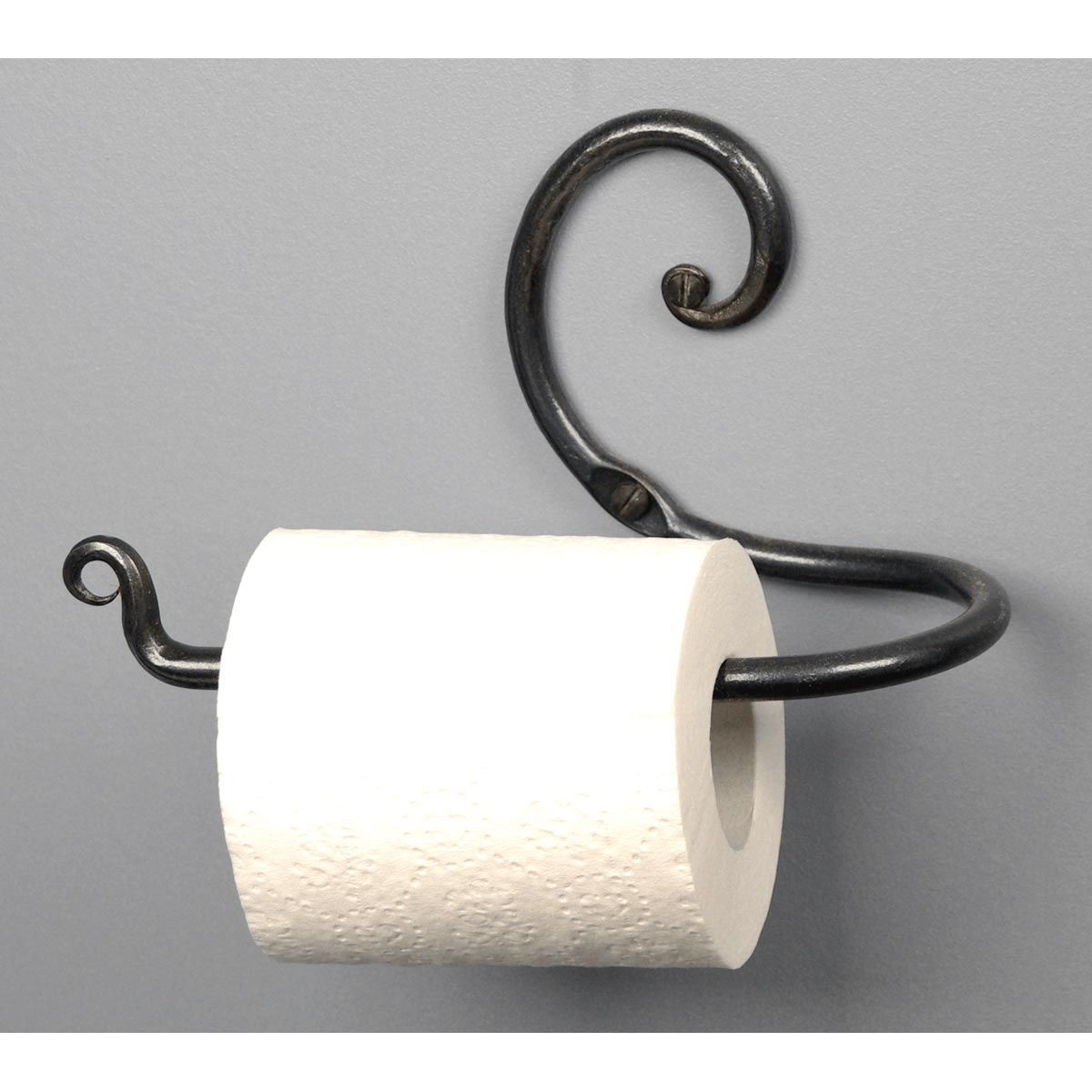 curl toilet paper holder | wrought iron home accessories
