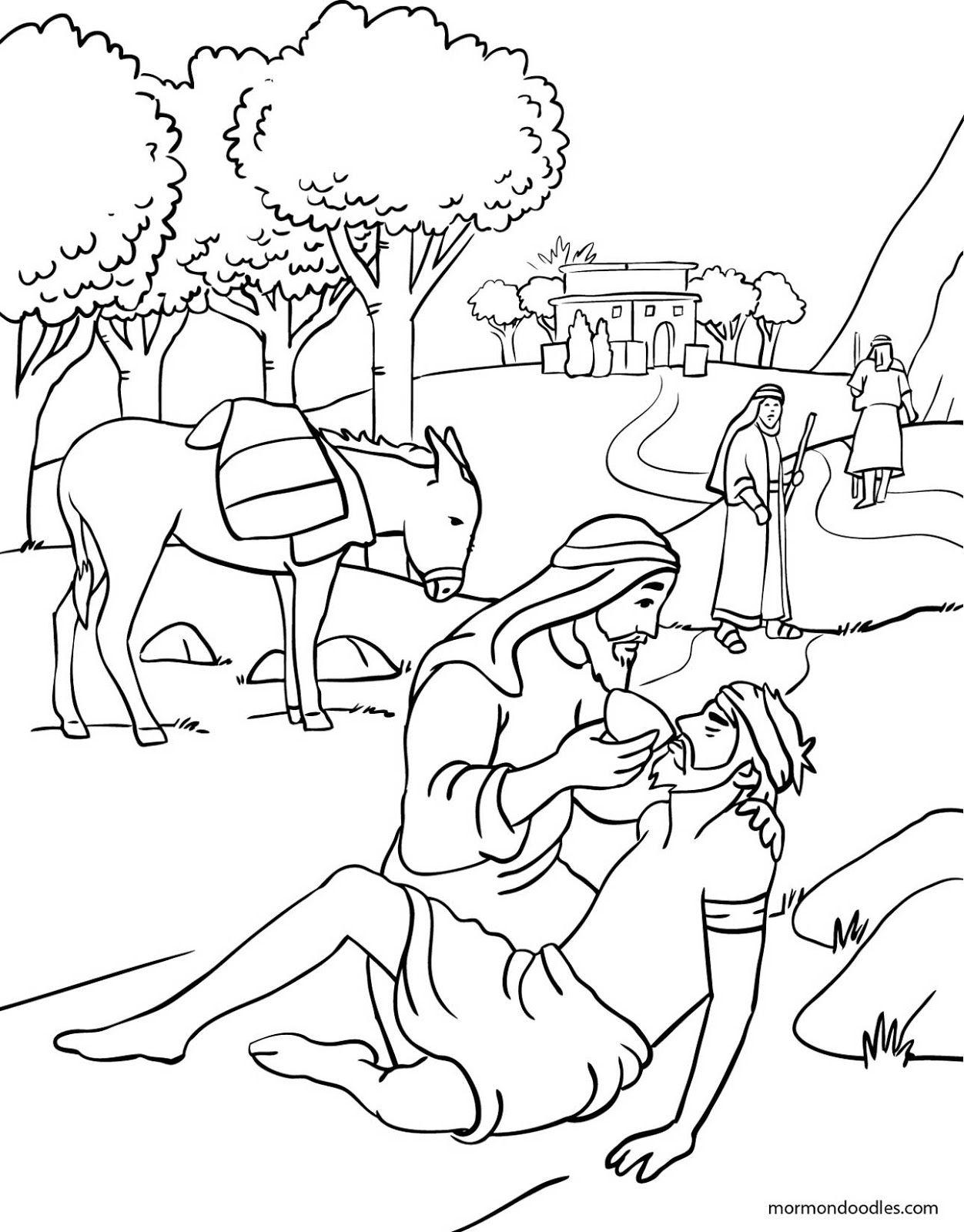 Mormon Doodles The Good Samaritan Coloring Page