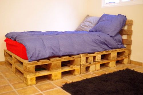 Pallet Wood Single Bed