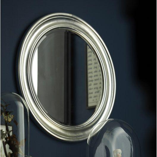 miroir daventry rond argent diametre 72 cm