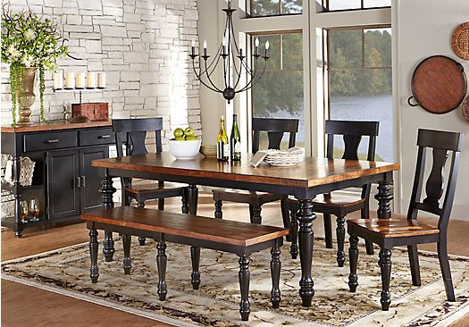 shop for a hillside cottage black 5 pc dining room at on rooms to go dining room furniture id=59424
