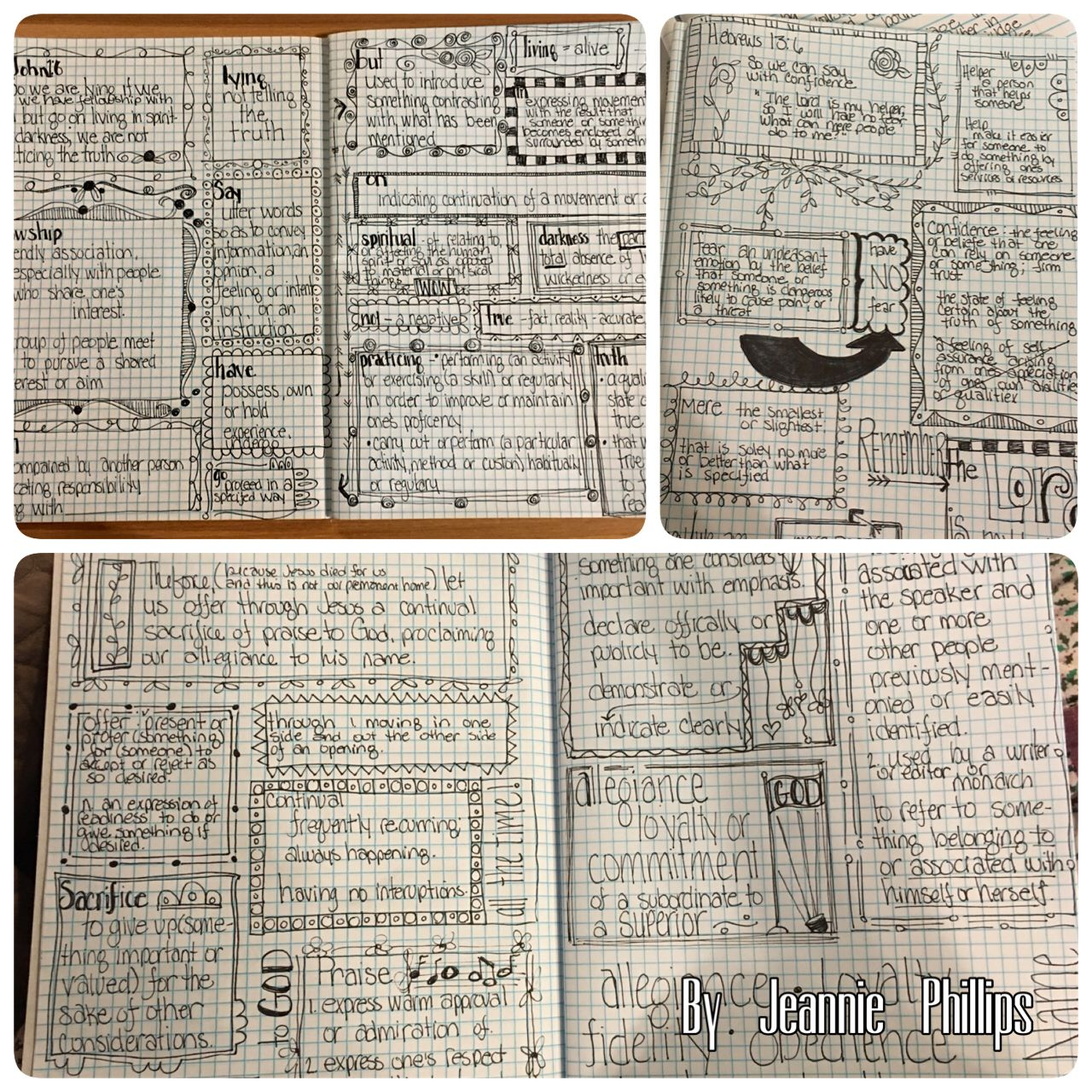 Some Of My Bible Journaling Verse Mapping Pages So Loving