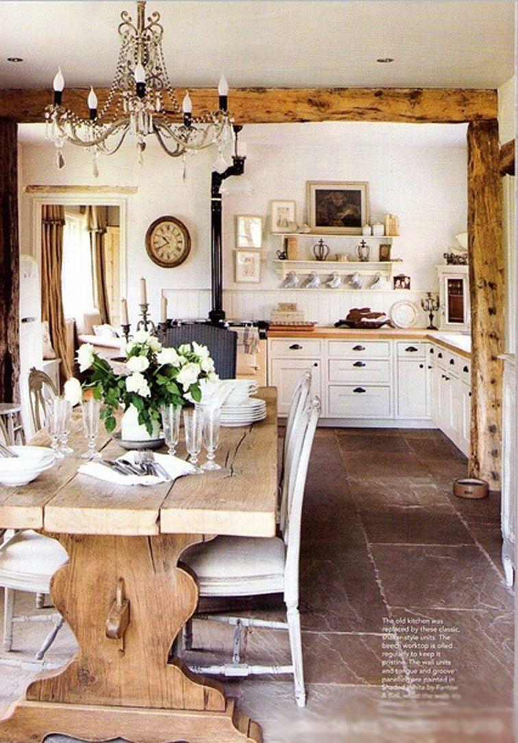 French charm rustic farmhouse kitchen.   Kitchen ... on Farmhouse Rustic Kitchen  id=61815