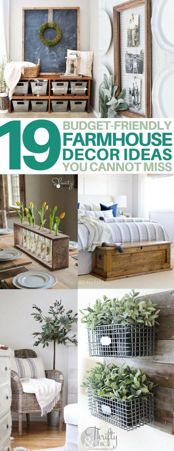 19 diy farmhouse decor ideas to style your fixer upper on on diy home decor on a budget apartment ideas id=39749