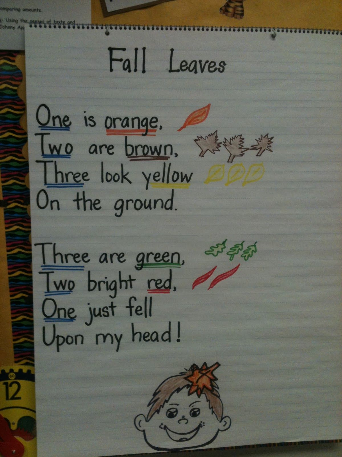 Cute Poem For Fall Except Shouldn T There Be Only 2 Brown
