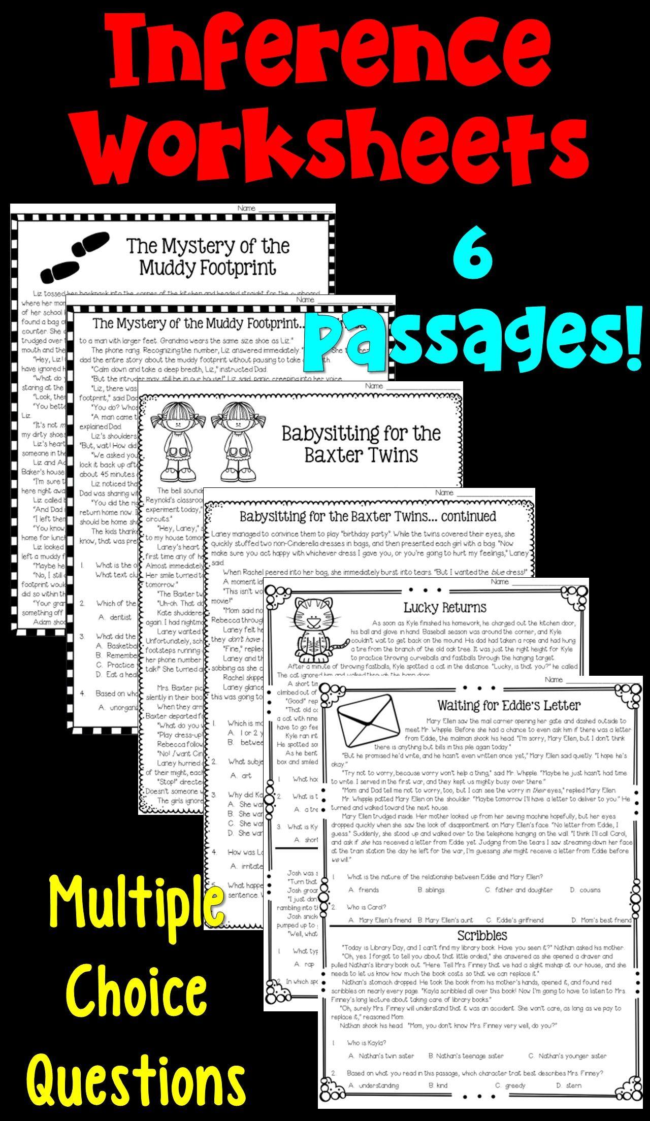 Worksheet Inference Worksheets Middle School Grass Fedjp Worksheet Study Site