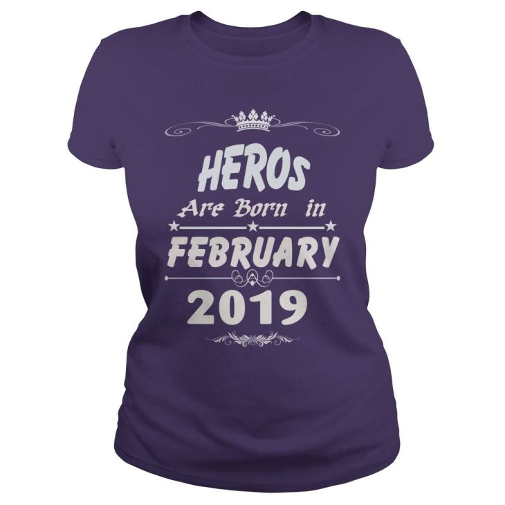 Heros are born in february  year heros t shirt hoodie shirt