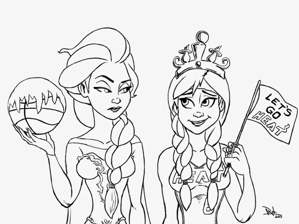 Coloring Pages Anna And Elsa Printable Coloring Pages