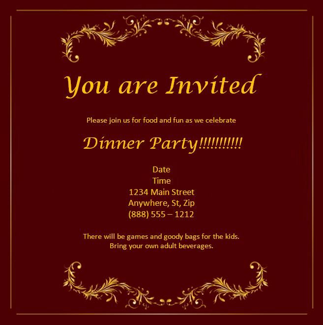 Invitation Card Free Template – Wedding Invitations Free Templates for Word