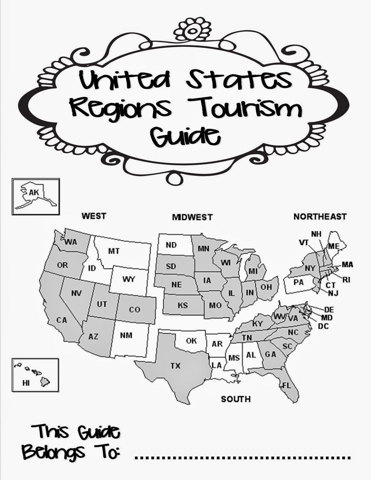 United States Regions Tourism Guide A Group Project On Learning The 5 Regions Of The Us