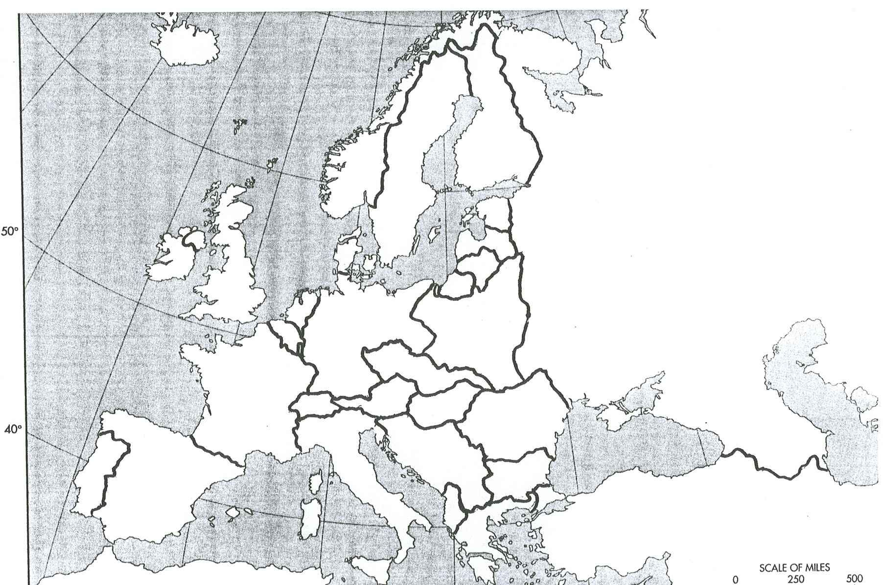 Blank Map Of Europe After World War Ii