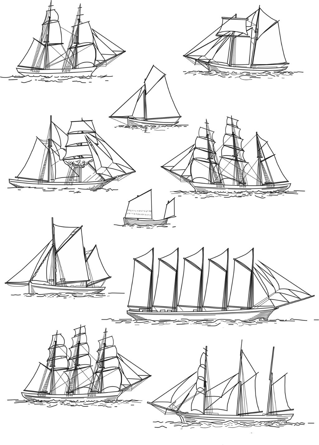 Touch Esta Imagen Copy Of Sailing Ship Rig Types By