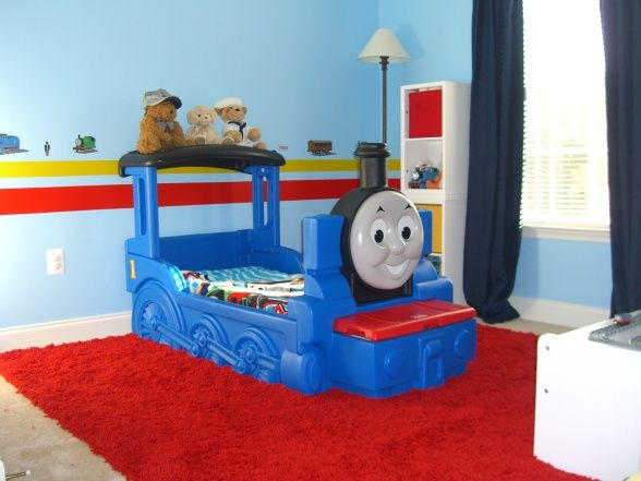 Thomas The Tank Engine Bedroom This Is My Two Year Old Sons New