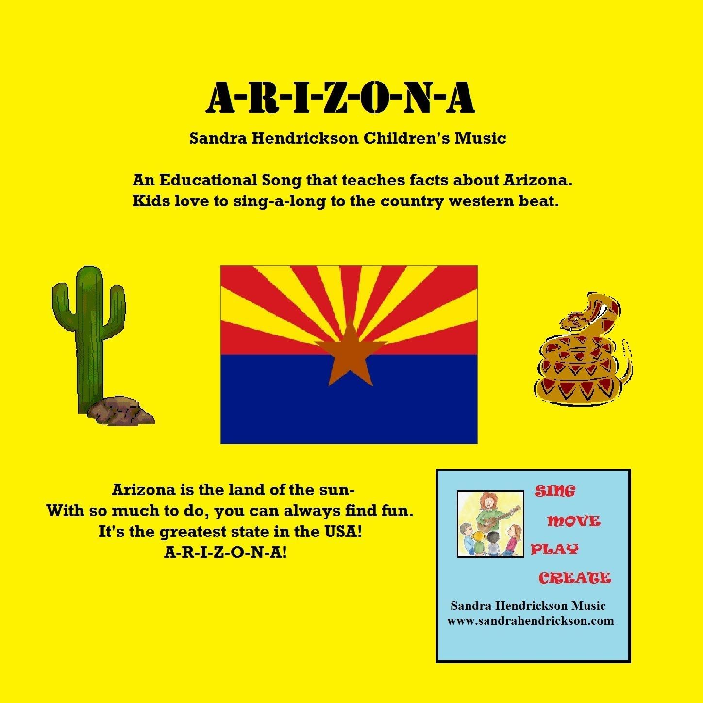 Arizona Symbols Free Worksheet