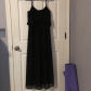Simple long black dress long black ankle and customer support