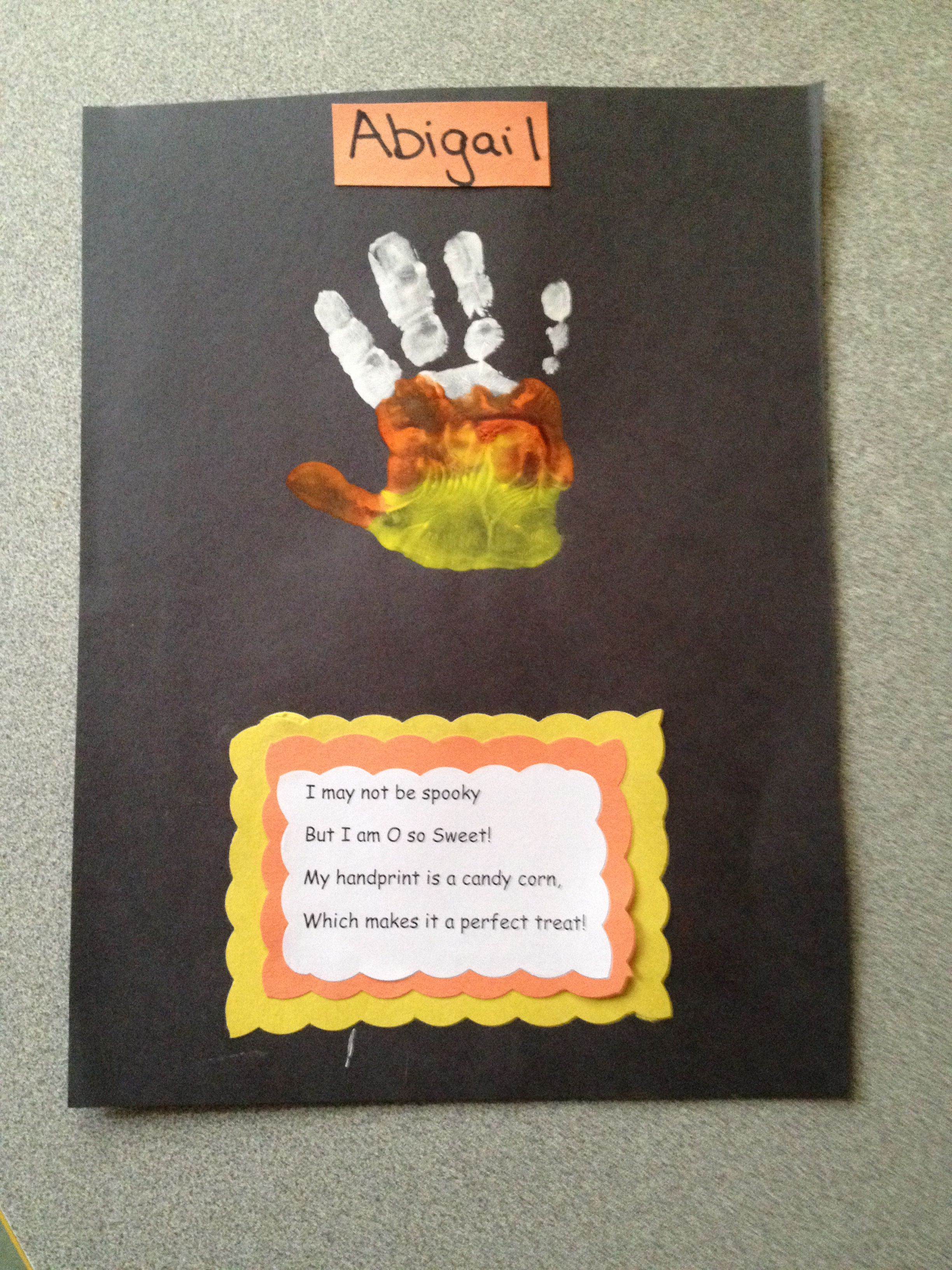 Candy Corn Handprint Cute And Easy Craft For Pre School