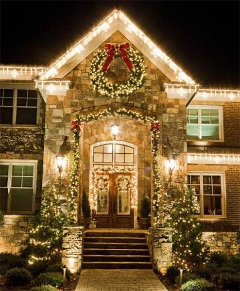 Outside christmas wall light decorations for Outdoor christmas wall decorations