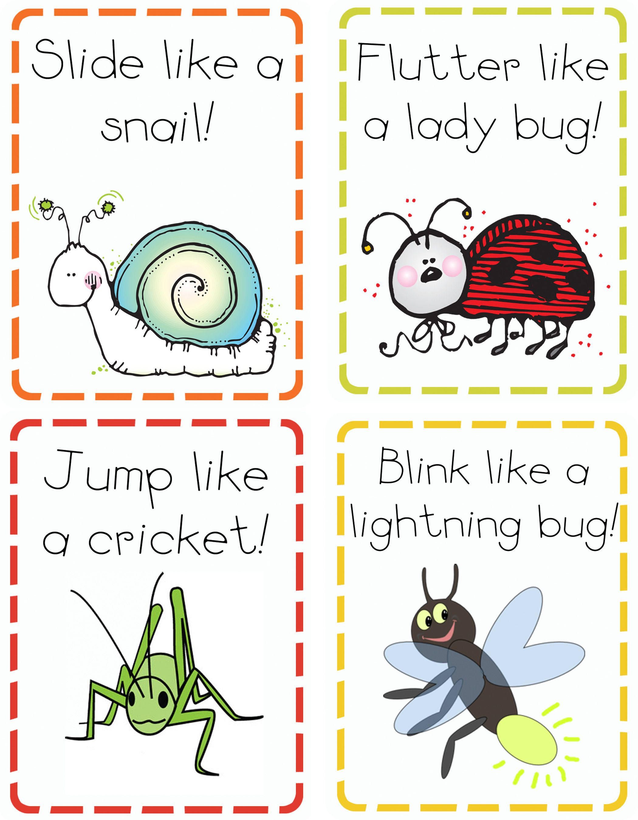 Action Cards For Kids