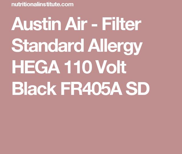 Austin Air Filter Standard Allergy Hega  Volt Black Fra Sd