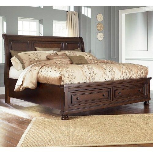 In By Ashley Furniture Lynchburg Va Porter Rustic Brown 3 Piece Bed Set King