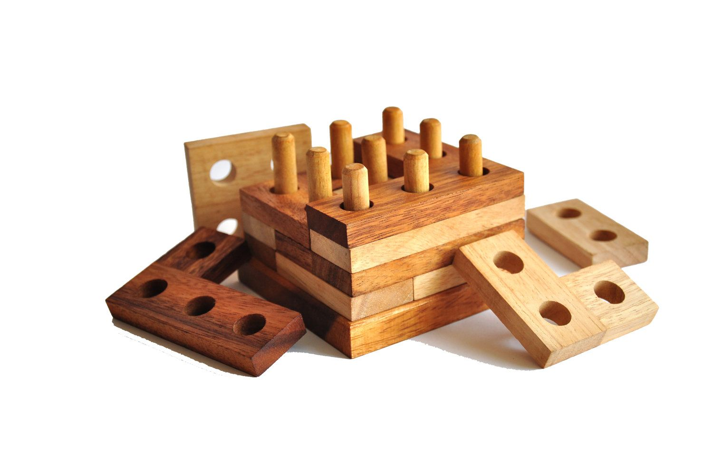 Wooden Puzzle Brain Teaser