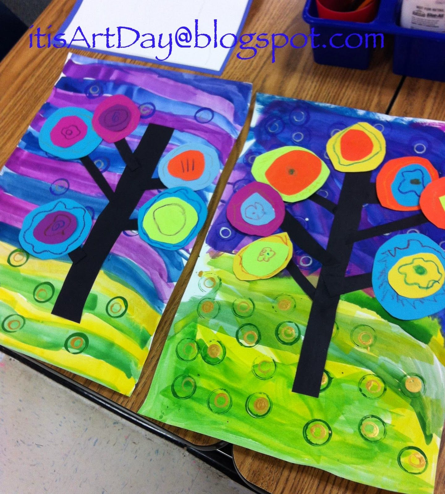 Kandinsky Trees After Concentric Circles