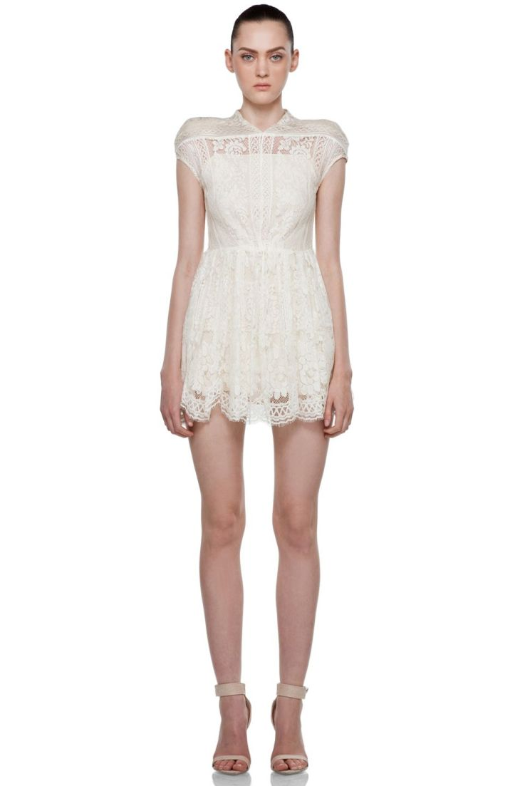 white lace dress by lover  Casual Cool  Pinterest  White lace