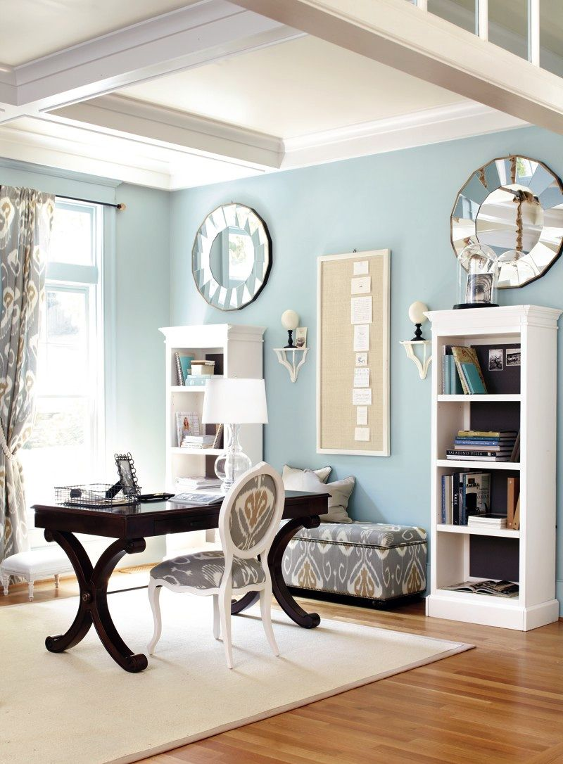light blue home office wainscotingamerica com office on blue office color id=11644