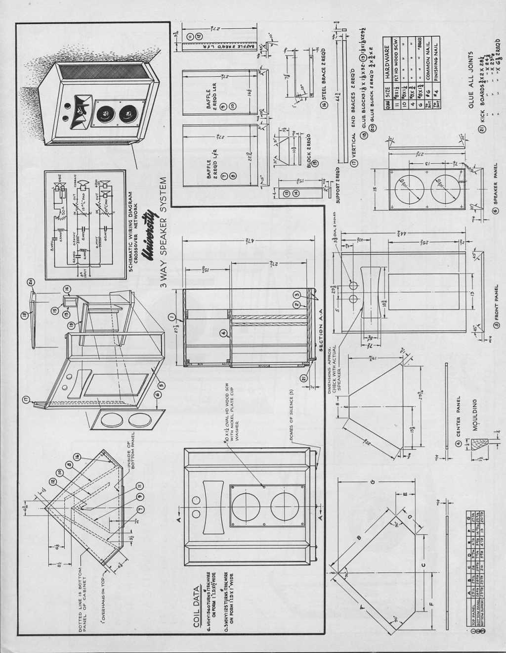 Folded Horn Speaker Design Plans